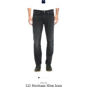 Lucky Brand 121 Heritage Slim black Mens Jeans 32